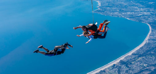 GoJump Santa Cruz , Skydiving with Ocean Views close to San